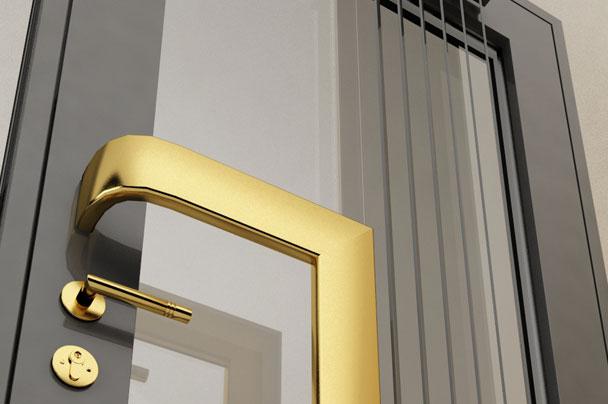 Usa intrare locuinta metal si sticla securizata concept Haute Couture Metalcraft
