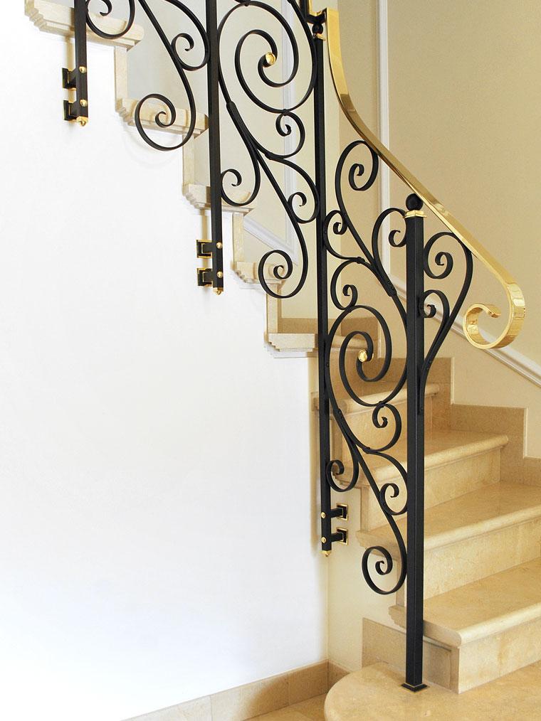 Balustrada metal clasica fier forjat haute couture metal