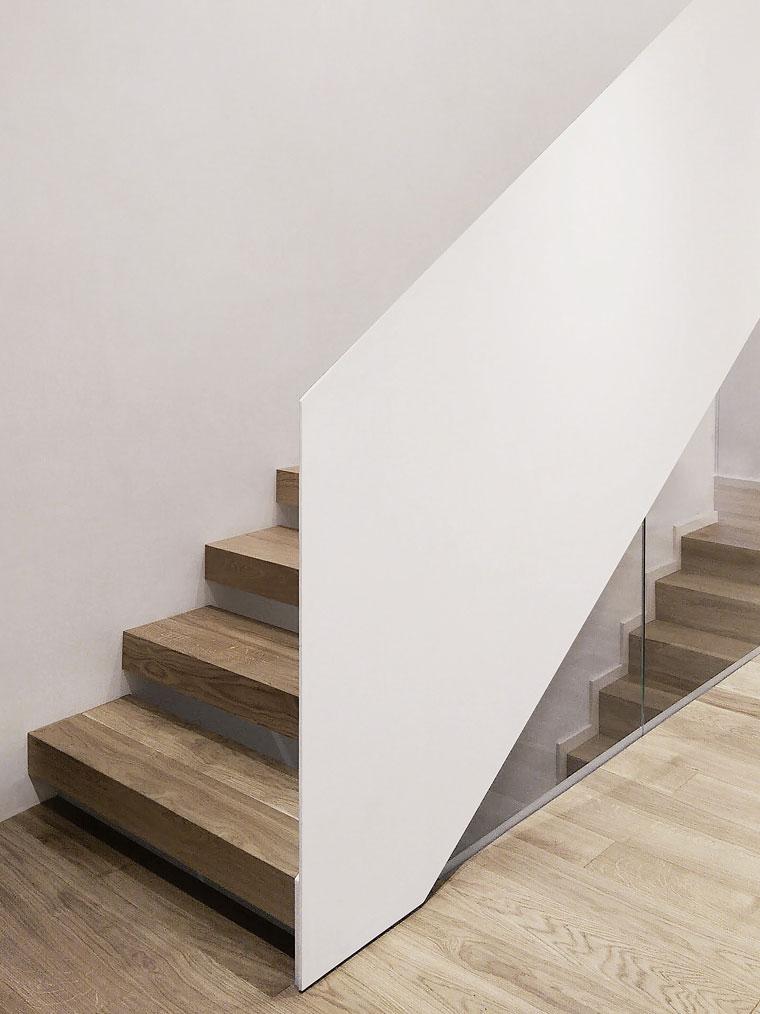 Scara studio 1408 trepte lemn balustrada otel haute couture metal