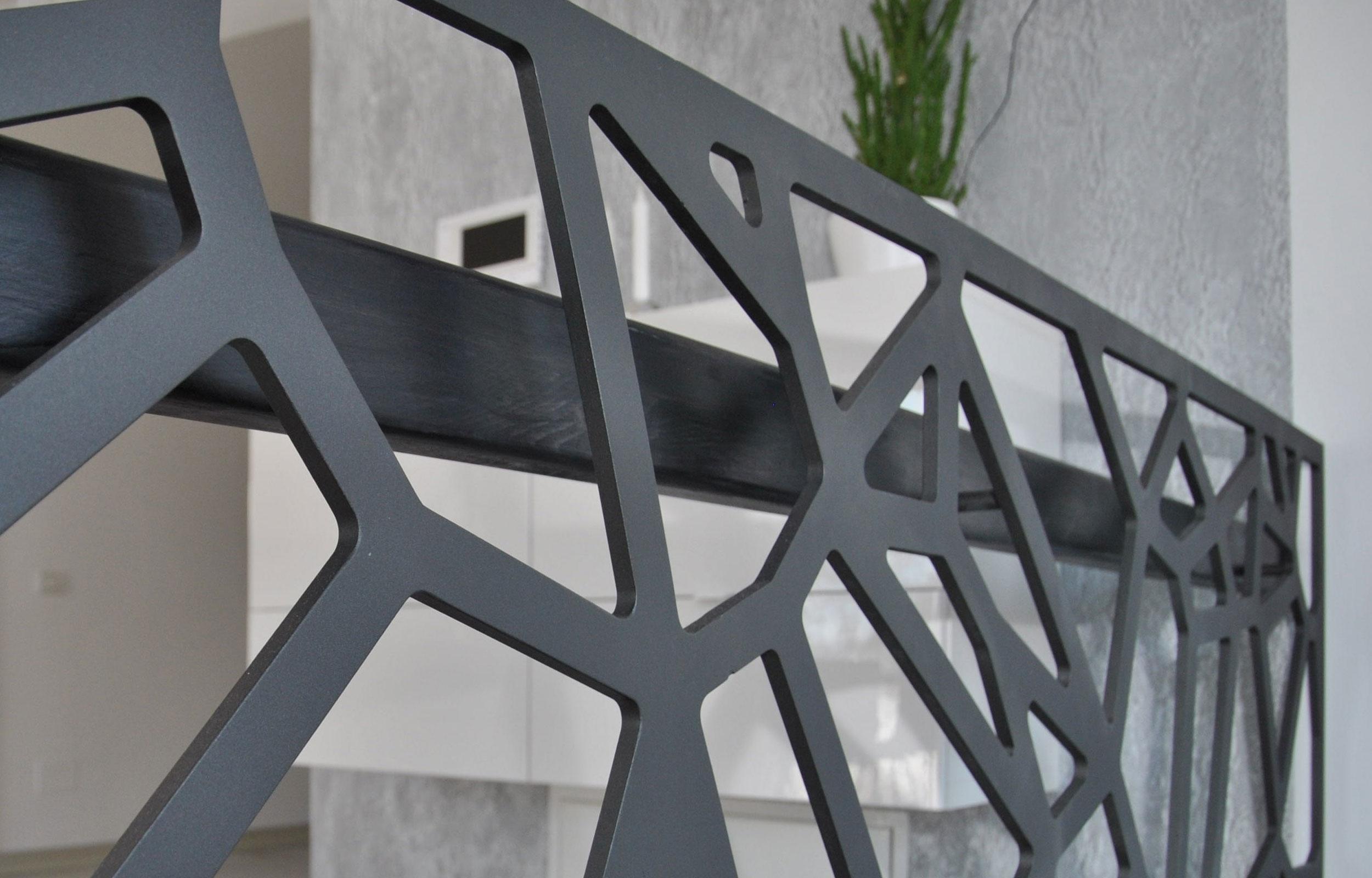 Balustrada lemn metal laser cut haute couture