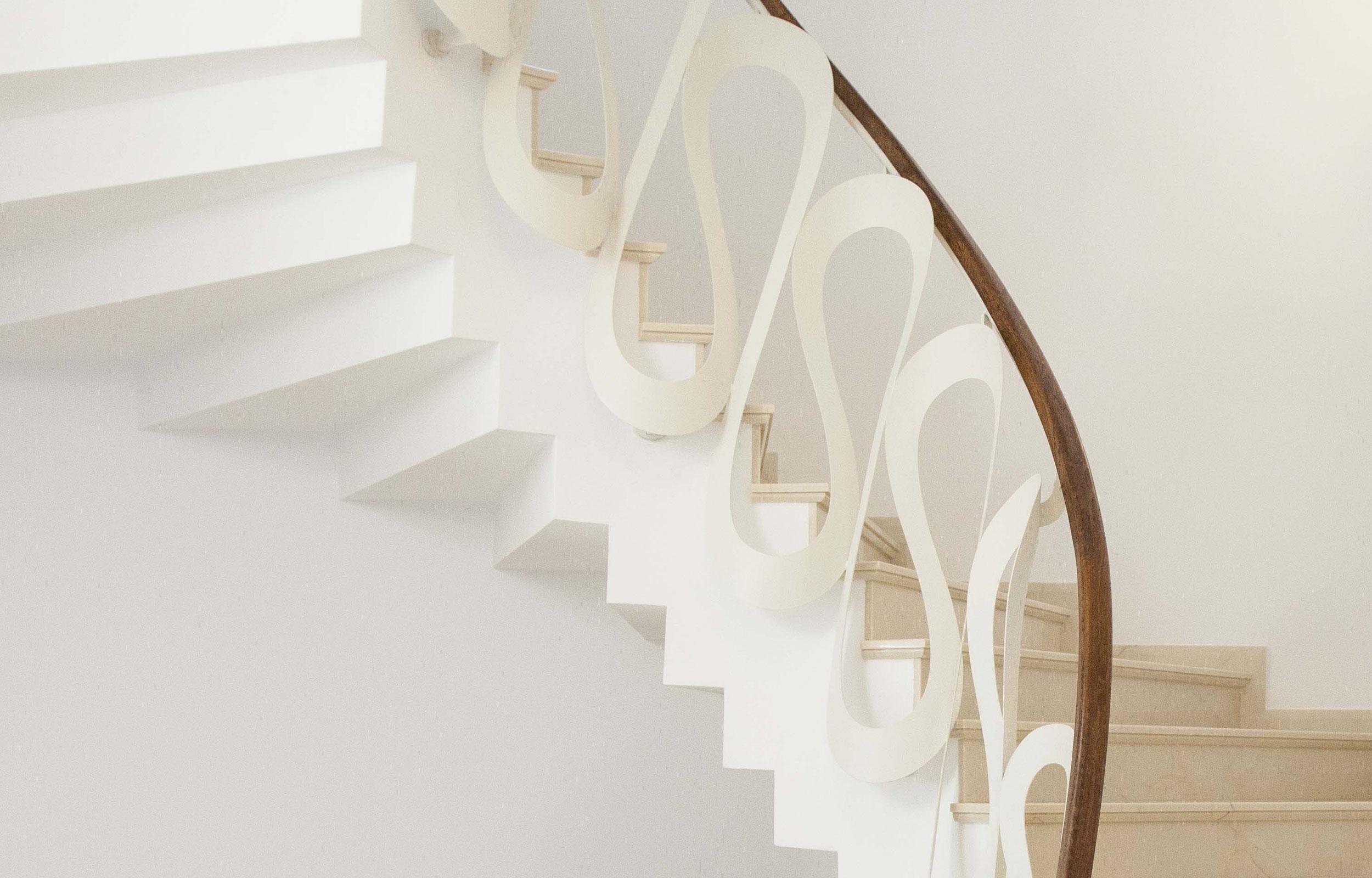 Scara interioara balustrada metal lemn haute couture
