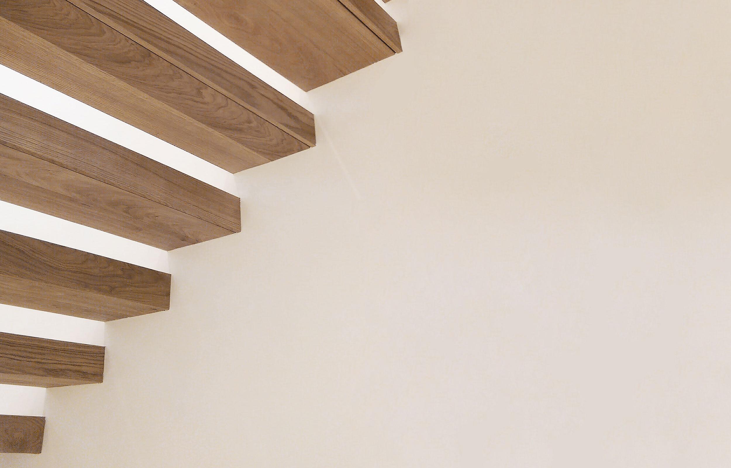 Scara trepte lemn balustrada metal flat
