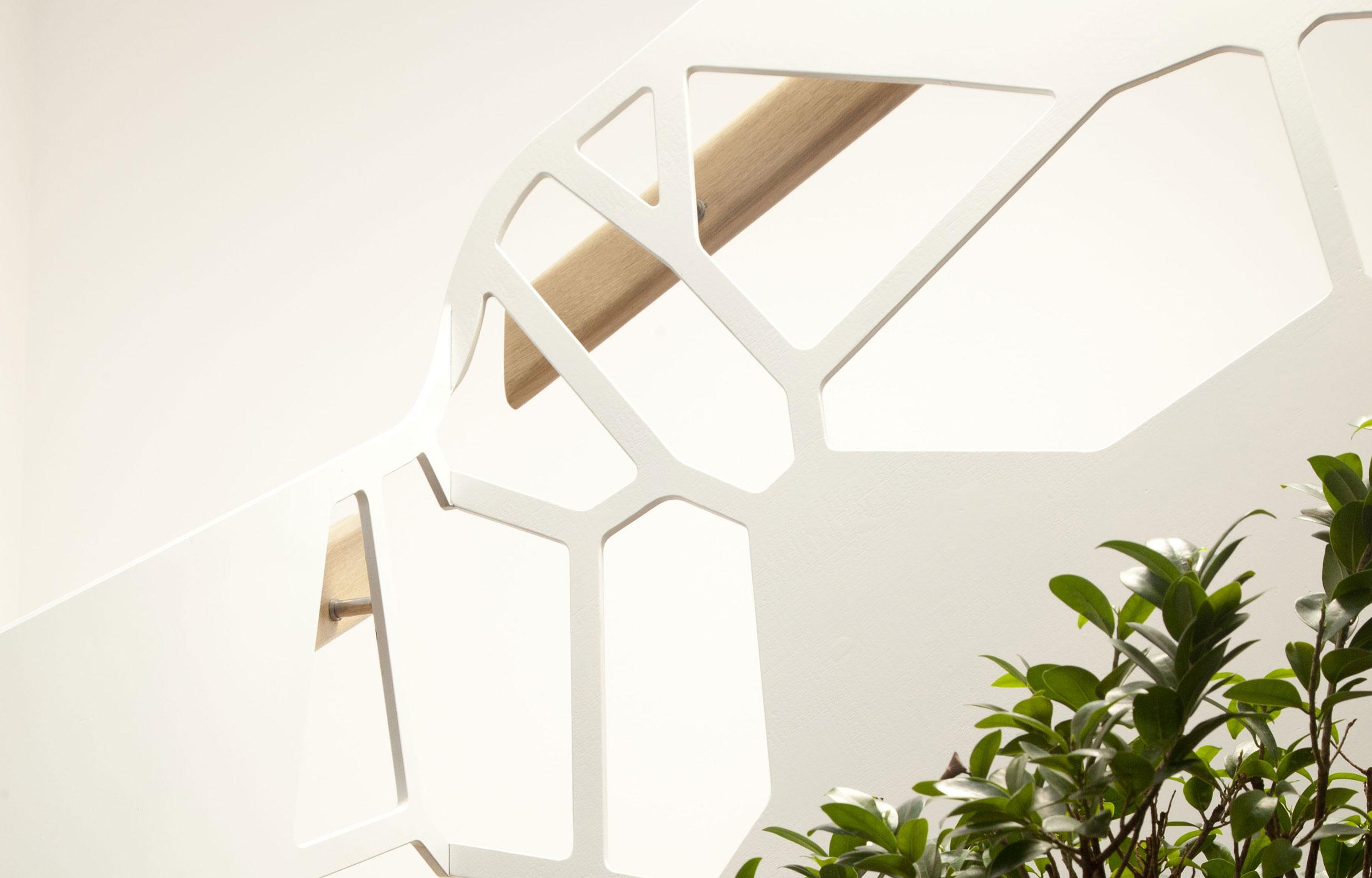 Scara trepte balustrada lemn haute couture metal PIONEER