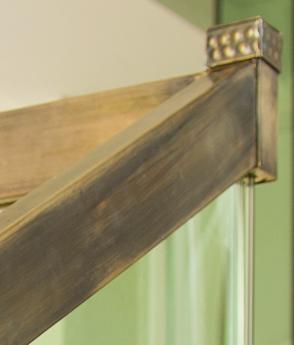 Scara art deco balustrada sticla alama antichizata vintage