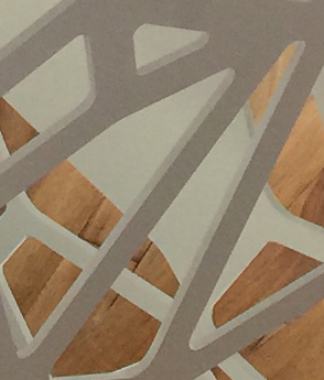 Balustrada otel decupat laser trepte lemn