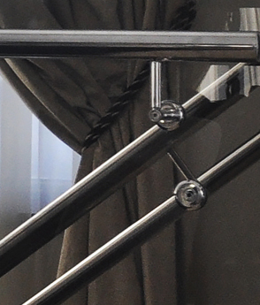 Balustrada scara sticla inox locuinta haute couture