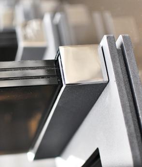 Scara locuinta sticla suport inox balustrada sticla haute couture