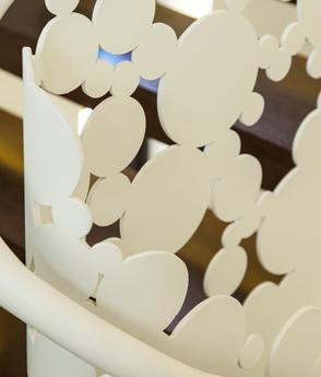 Balustrada otel debitata laser haute couture metal