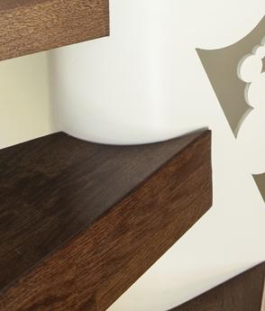 Trepte lemn balustrada metal design haute couture