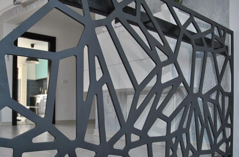 Balustrada metal laser cut haute couture metalcraft