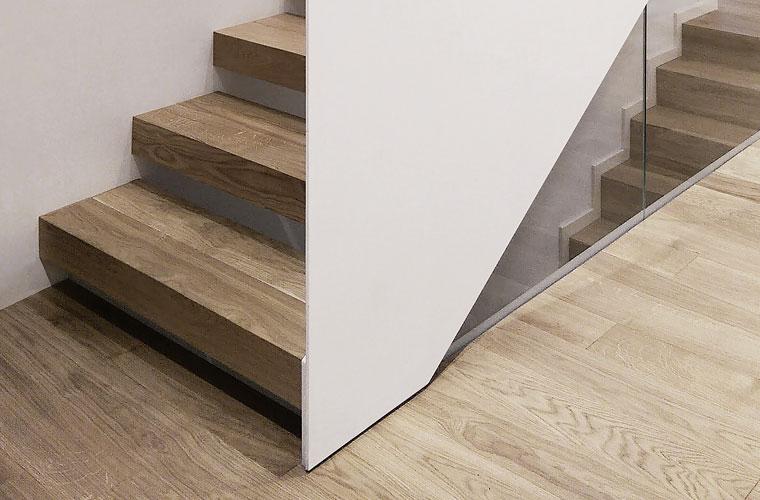 Design scara interioara lemn full flat haute couture