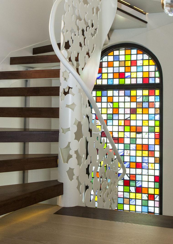 Scara interioara design lemn metal haute couture