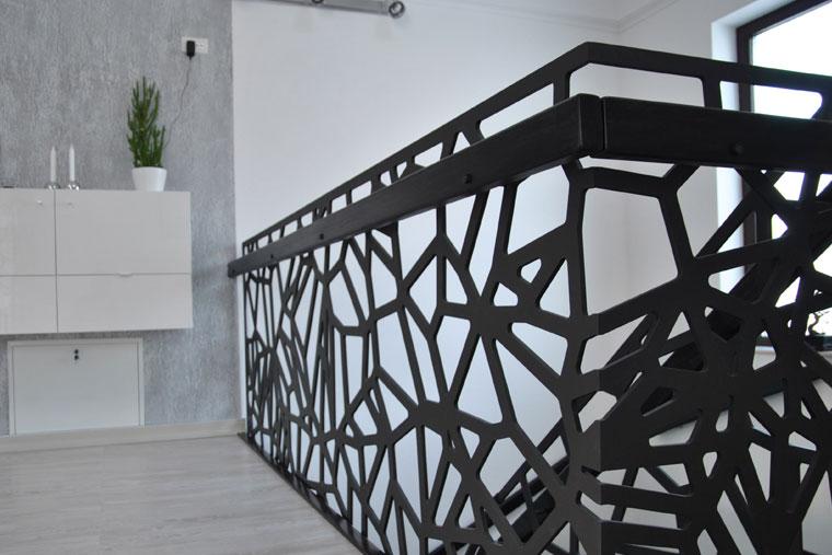 Balustrada decupata laser metal haute couture