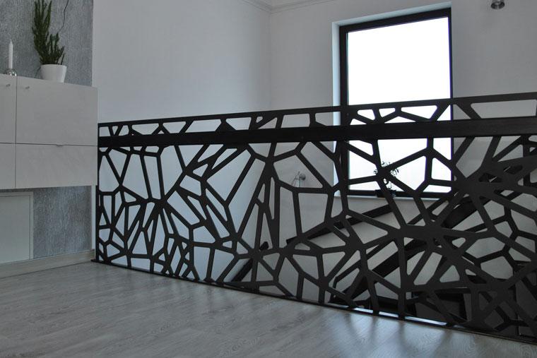 Balustrada decupata laser mana curenta lemn haute couture