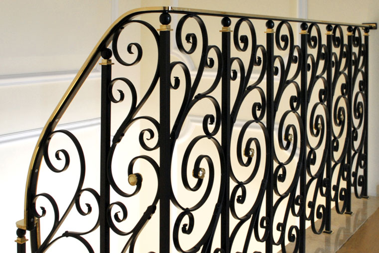Balustrada scara interioara metal fier forjat