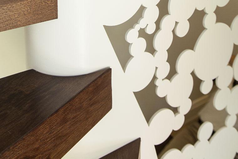 Trepte lemn structura metal scara arhitect haute couture