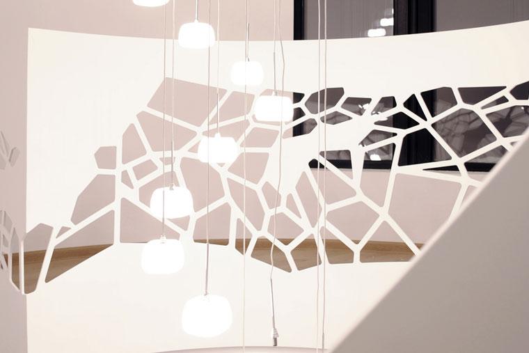 Balustrada scara debitata laser haute couture metal